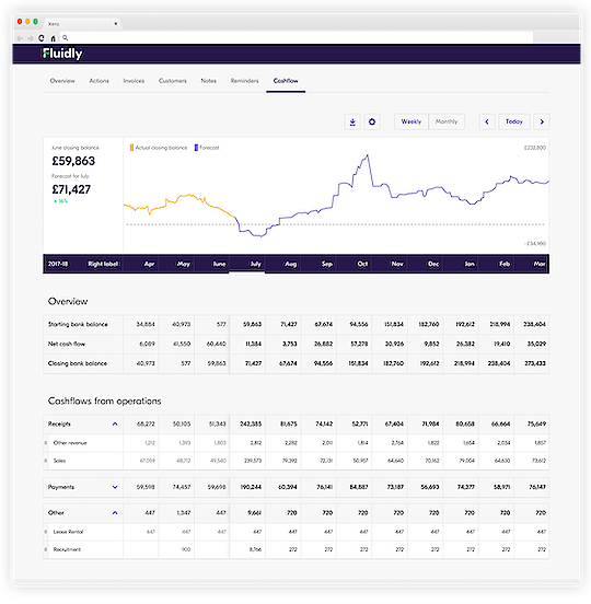 Fluidly's Financial Overview Dashboard