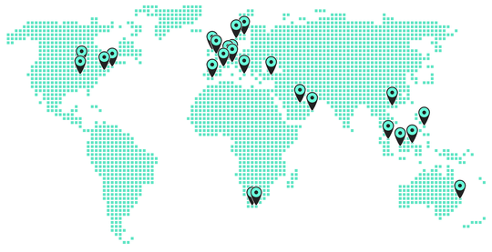 11:FS has delivered work all over the globe - from North America and throughout Europe, to the Middle East, South Africa and across APAC