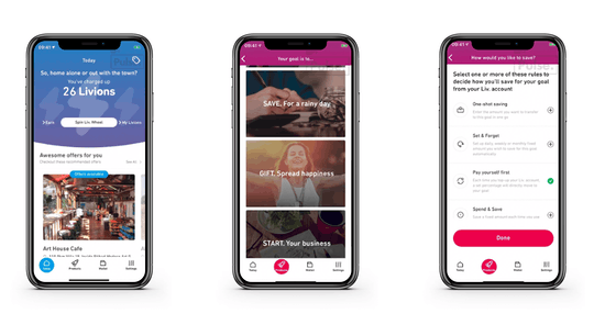 Emirates NBD Liv. app interface